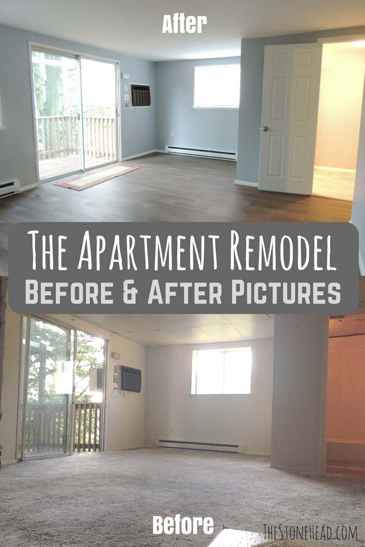 apartment remodel before and after pictures - the stone head