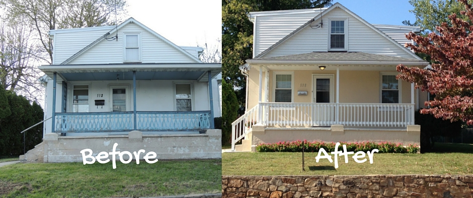 Flipping houses before and after pictures the stone head for Is it easy to flip houses