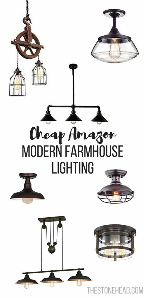 Cheap Modern Farmhouse Lighting The Stone Head